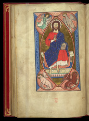 Christ In Majesty Surrounded By The Symbols Of The Evangelists, In A Psalter Preceded By Miniatures And A Calendar